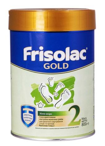 Friso 2 Фрісолак Gold Суміш молочна від 6 до 12 місяців 800 г 1 банка
