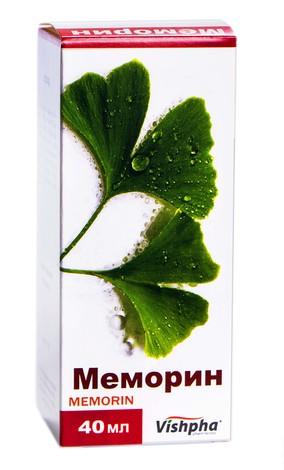 Меморин краплі оральні 40 мг/мл 40 мл 1 флакон