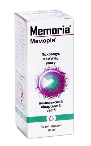 Меморія краплі оральні 20 мл 1 флакон
