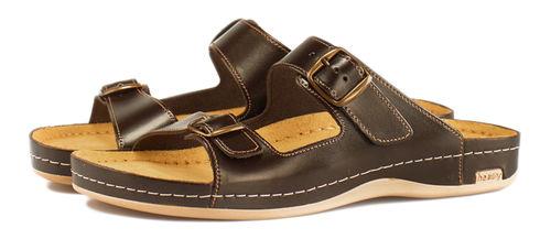 Leon 702 Медичне взуття чоловіче коричневого кольору 42 розмір 1 пара