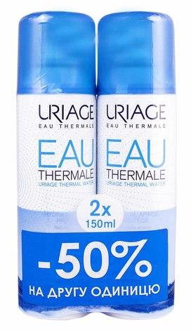 Uriage Термальна вода Дуо 2х150 мл 1 набір