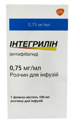 Інтегрилін розчин для інфузій 0,75 мг/мл 100 мл 1 флакон