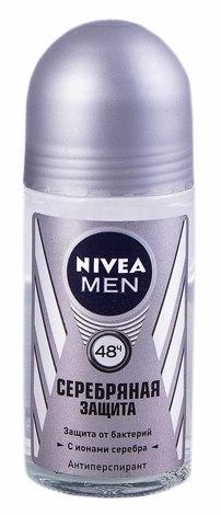 Nivea Men Дезодорант-антиперспірант кульковий Cрібний захист 50 мл 1 флакон