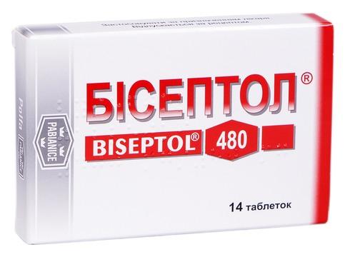 Бісептол таблетки 400 мг/80 мг  14 шт