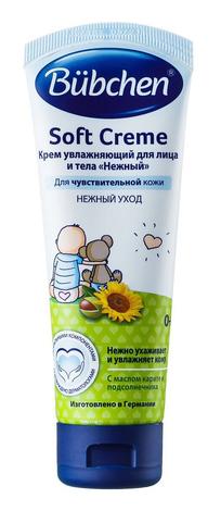 Bubchen Крем дитячий зволожуючий для обличчя і тіла Ніжний 75 мл 1 туба