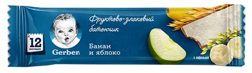 Gerber Батончик фруктово-злаковий Банан та яблуко з 12 місяців 25 г