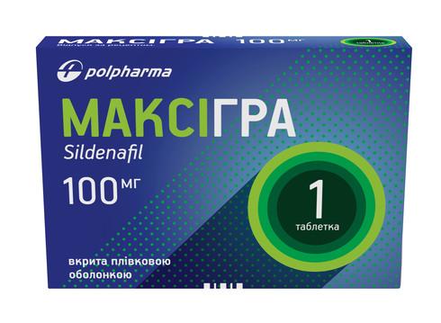 Максігра таблетки 100 мг 1 шт