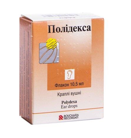 Полідекса краплі вушні 10,5 мл 1 флакон