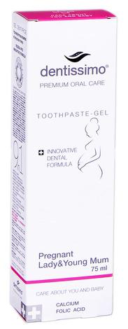 Dentissimo Зубна паста-гель для вагітних жінок та молодих мам 75 мл 1 туба