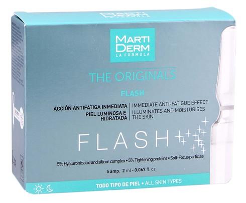 MartiDerm The Originals Флеш ампули миттєвий ефект усунення слідів втоми для всіх типів шкіри 2 мл 5 ампул
