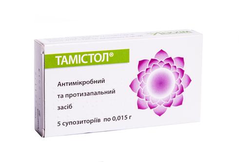 Тамістол супозиторії 0,015 г 5 шт