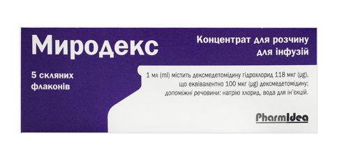 Миродекс концентрат для інфузій 100 мкг/мл 2 мл 5 флаконів