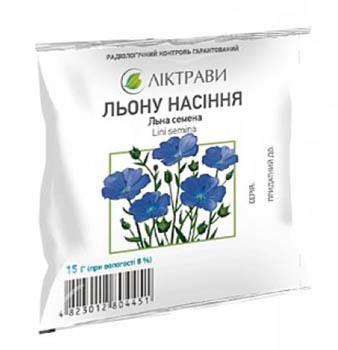 Ліктрави Льону насіння 15 г 1 пакет