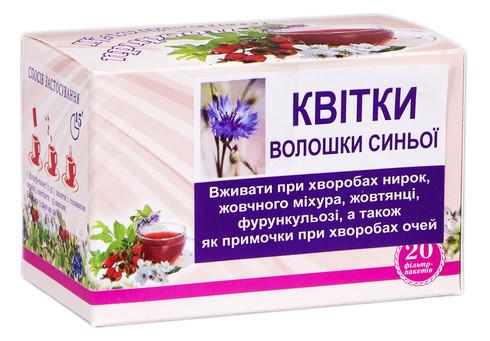 Фіточай Волошки синьої квітки 20 шт
