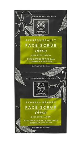 Apivita Express Beauty Скраб для очищення обличчя з оливою 8 мл 2 шт
