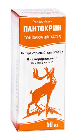 Пантокрин екстракт рідкий, спиртовий 50 мл 1 флакон