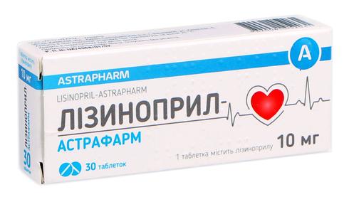 Лізиноприл-Астрафарм  Табл 10 мг н 30