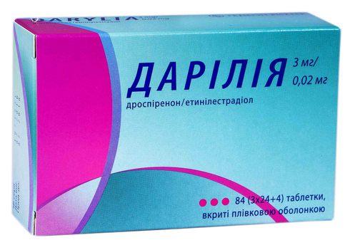 Дарілія таблетки 3 мг/0,02 мг  84 шт