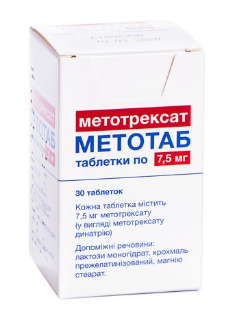 Метотаб таблетки 7,5 мг 30 шт