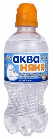 Аква Няня Вода дитяча негазована Спортик 0,33 л 1 пляшка