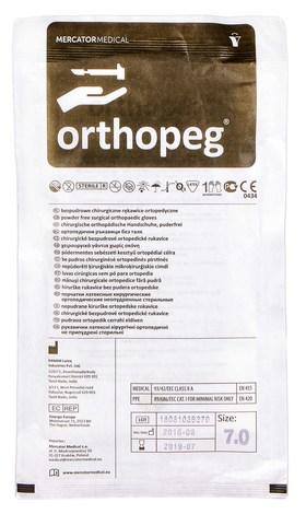 Orthopeg Рукавички латексні хірургічні ортопедичні неприпудрені стерильні розмір 7 1 пара