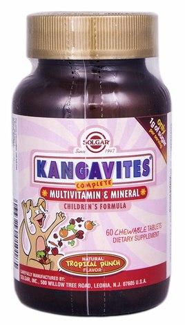 Solgar Кангавітес зі смаком тропічних фруктів таблетки 60 шт