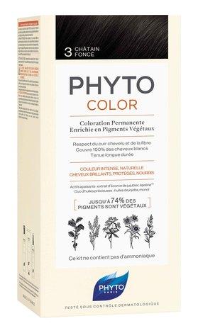 Phyto Phytocolor Сенситів Крем-фарба 3 темний шатен 100 мл 1 комплект
