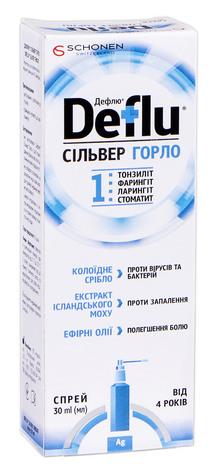 Дефлю Сільвер Горло спрей 30 мл 1 флакон