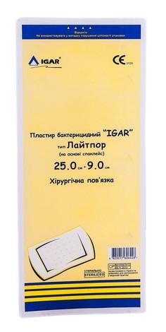 Igar Пластир бактерицидний тип Лайтпор хірургічна пов'язка 25,0 х 9,0 см 1 шт