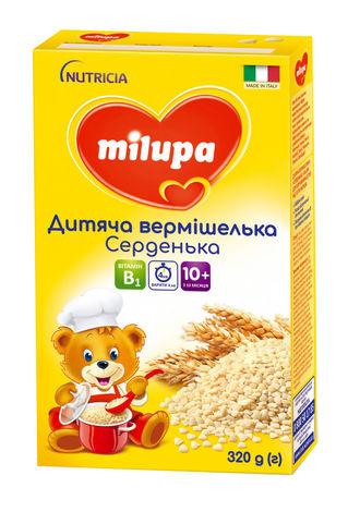 Milupa Вермішелька дитяча Серденька для дітей від 10 місяців 320 г 1 коробка