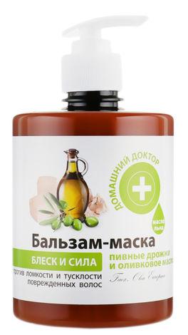Домашній Доктор Бальзам-маска Пивні дріжджі та оливкова олія  500 мл 1 банка
