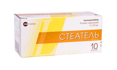 Стеатель розчин оральний 1 г/10 мл  10 мл 10 флакон