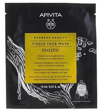 Apivita Express Beauty Маска тканинна для обличчя з смолою мастикового дерева Пружність та ліфтинг-ефект 15 мл 1 шт