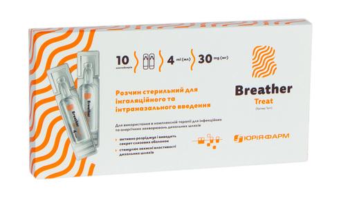 Брізер Тріт розчин для інгаляційного та інтраназального введення 4 мл 10 контейнерів