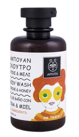 Apivita Eco-Bio Засіб для миття волосся і тіла з мандарином та медом 250 мл 1 флакон