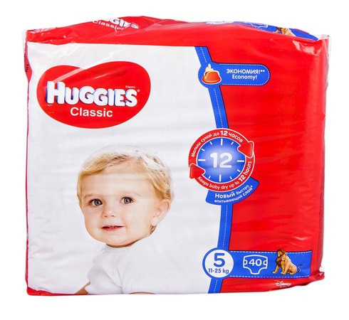 Huggies Classic 5 Підгузки дитячі 11-25 кг 40 шт