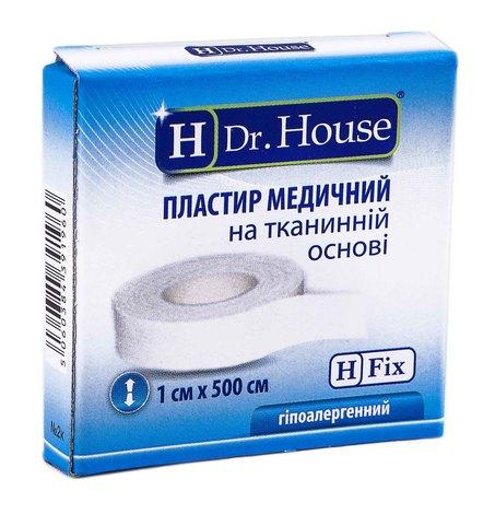 H Dr. House Пластир медичний на тканинній основі 1х500 см 1 шт