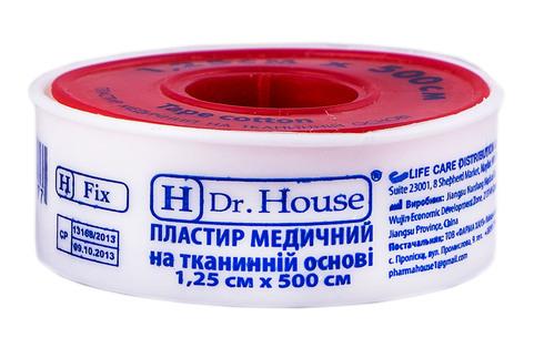 H Dr. House Пластир медичний на тканинній основі 1.25х500 см 1 шт