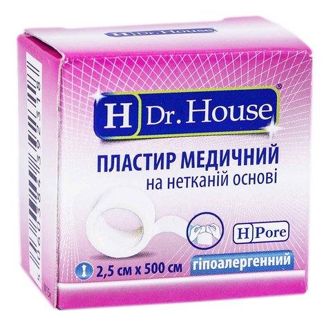 H Dr. House Пластир медичний на нетканій основі гіпоалергенний 2,5х500 см 1 шт