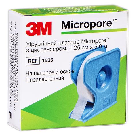 3M Мікропор Лейкопластир хірургічний гіпоалергенний 1,25 см х 5 м 1 шт