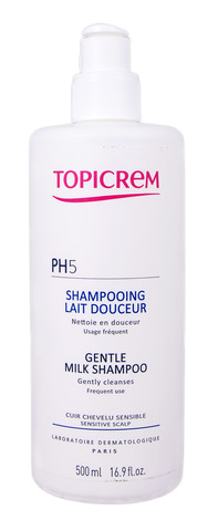Topicrem PH 5 Шампунь-молочко з екстрактом бавовни для всіх типів волосся 500 мл 1 флакон