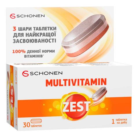 Zest Мультивітамін таблетки 30 шт