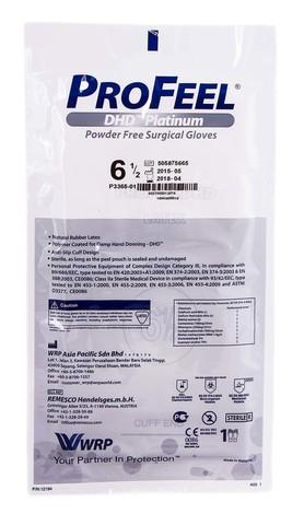 ProFeel DHD Platinum Рукавички хірургічні латексні стерильні неприпудрені розмір 6,5 1 пара