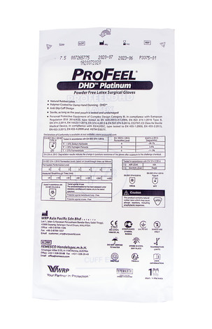ProFeel DHD Platinum Рукавички хірургічні латексні стерильні неприпудрені розмір 7,5 1 пара