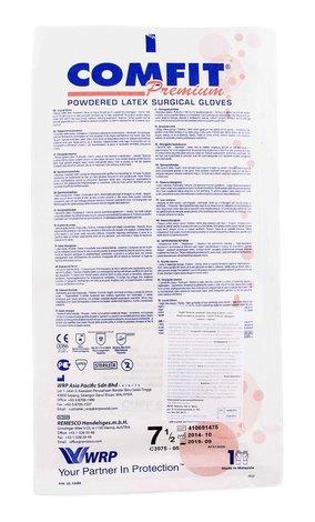 Comfit Рукавички хірургічні стерильні припудрені латексні розмір 7,5 1 пара
