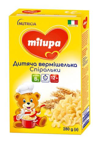 Milupa Вермішелька дитяча Спіральки для дітей від 12 місяців 280 г 1 коробка