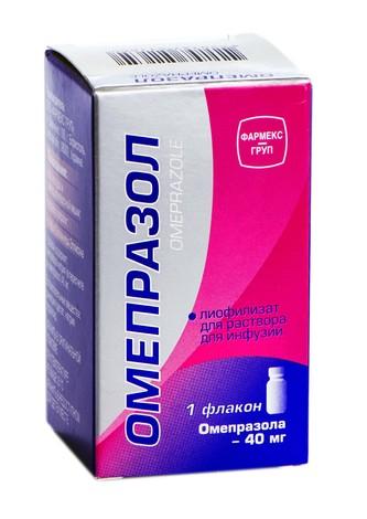 Омепразол ліофілізат для розчину для інфузій 40 мг 1 шт