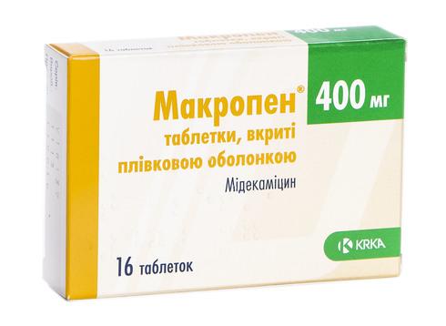 Макропен таблетки 400 мг 16 шт