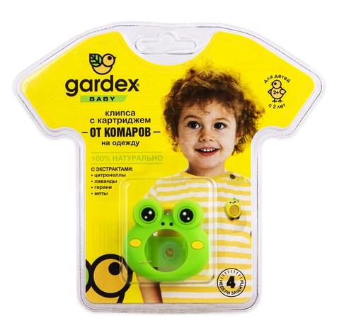 Gardex  Baby Кліпса з картриджем від комарів на одяг від 2 років 1 шт