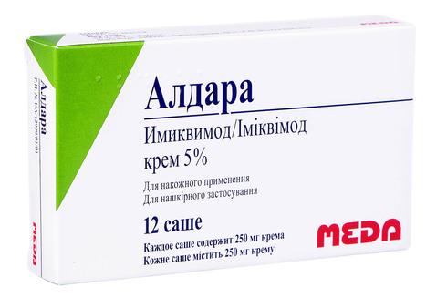 Алдара крем 5 % 250 мг 12 саше